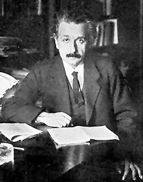 Albert Einstein Image source: The Scientific Monthly