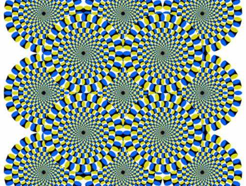 The Riddle of Rotation Image source: Jace Daniel - http://jaced.com/2005/06/21/rotating-snake-illusion/