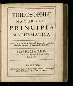 Philosophiæ Naturalis Image source: Royal Society