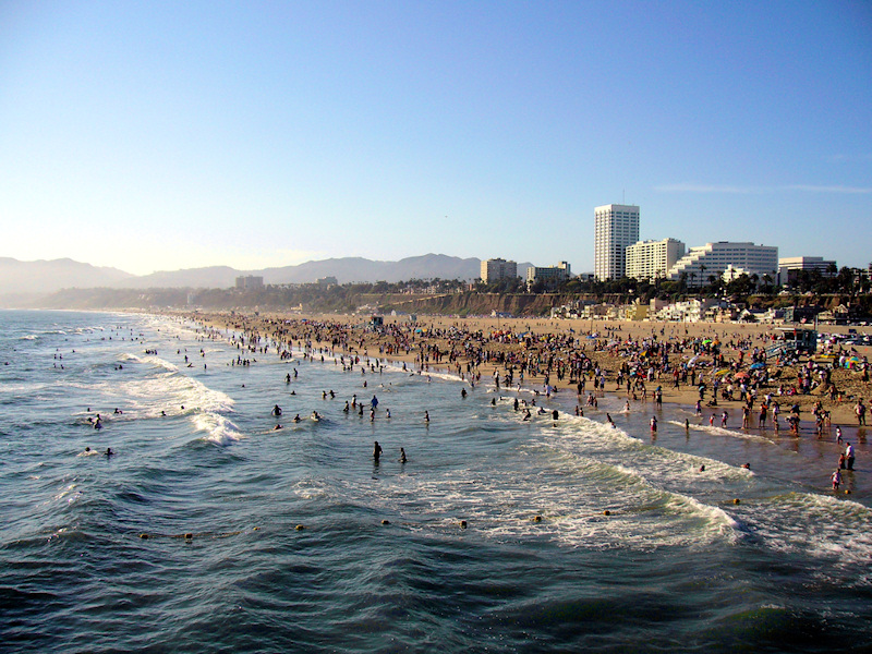 Santa Monica Beach Via Wikipedia