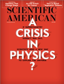 Crisis in Physics cover Sci Am May 2014