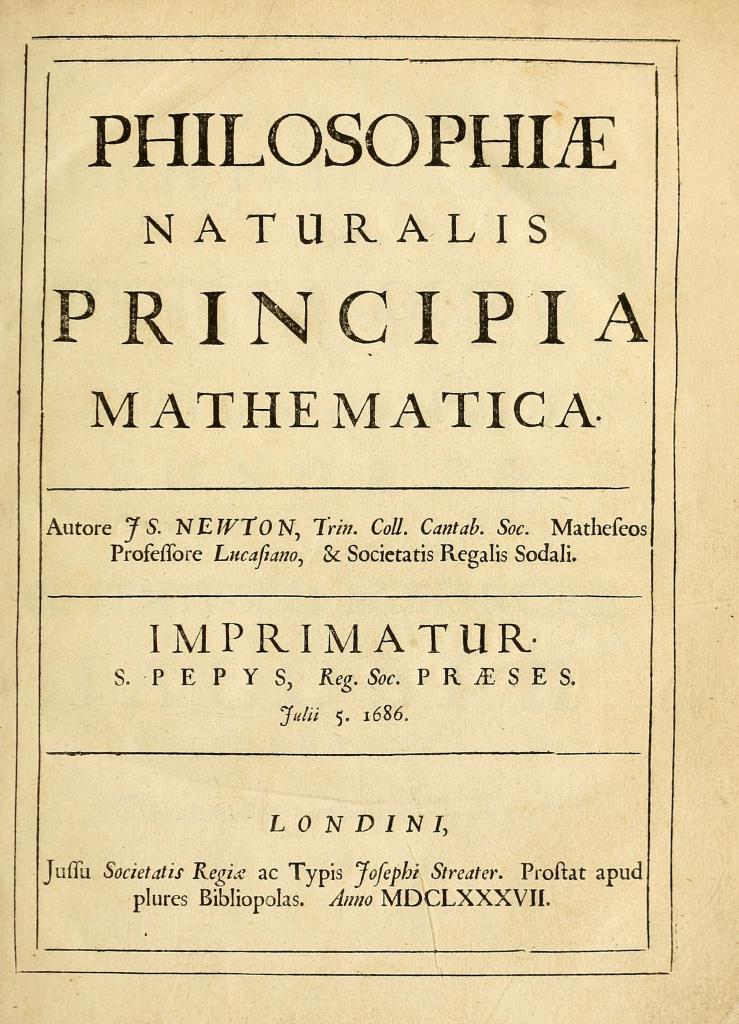 Newton Prinicipiae title page