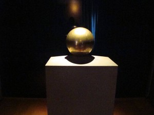 Urn with Tesla's ashes in Museum
