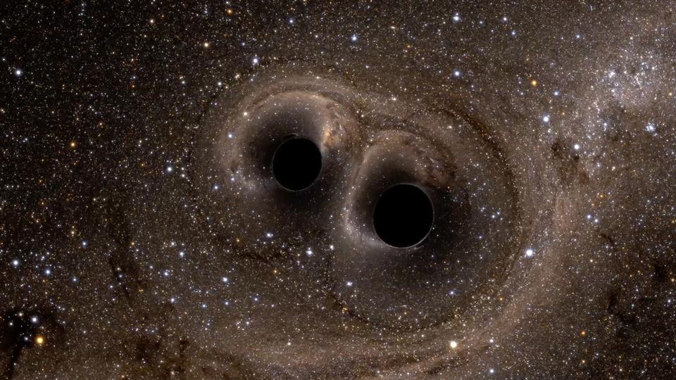 LIGO colliding black holes simulation